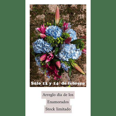 Arreglo de flores dia de los enamorados
