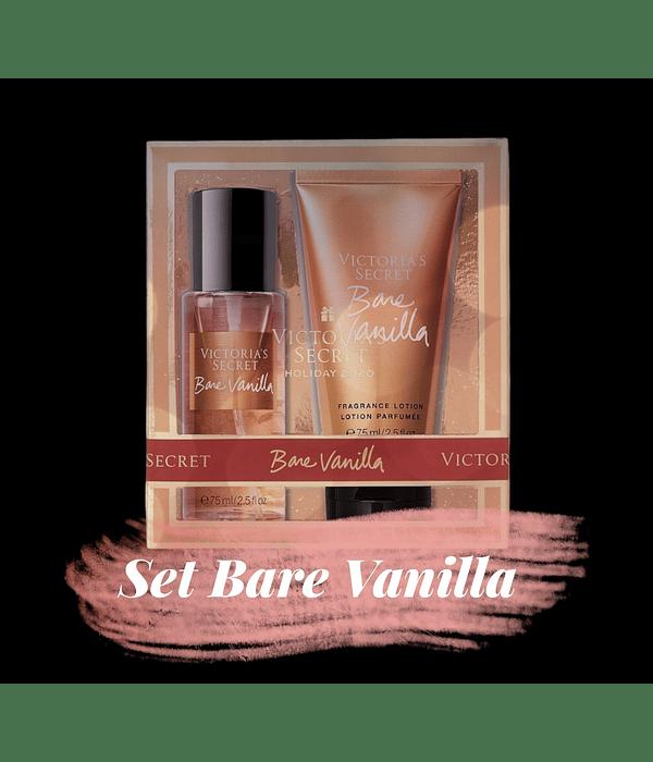 Set Bare Vanilla (splash + loción) Tamaño Mini