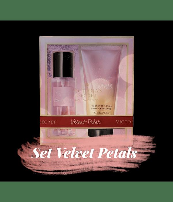 Set Velvet Petals (splash + loción) Tamaño Mini