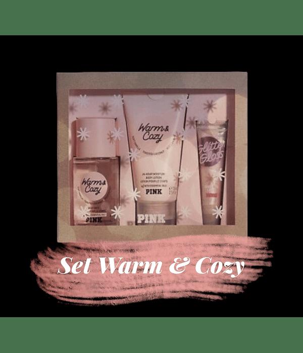 Set Warm & Cozy (splash + loción + gloss) Tamaño Mini
