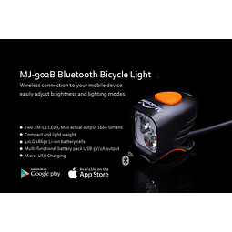 MJ-902B Luz Magicshine 1600 lumens bluetooth
