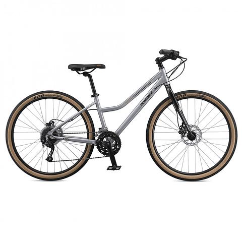 "Bicicleta Mongoose KALDI Mujer 27.5"" color plata 18 velocidades"