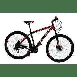"""Bicicleta 29"""" Mtb Fantom Alum Disco Negra/Roj"""