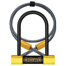 Candado On Guard U-Lock Bulldog Mini Dt Cable