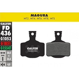 Pastillas para frenos Magura modelos MT2, MT4, MT6, MT8, MTS