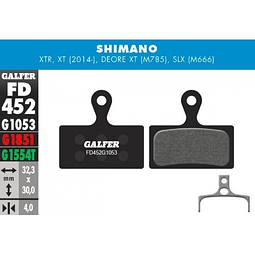 GALFER PASTILLAS SHIMANO M985, M785, M666