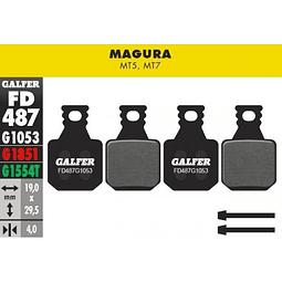 Pastillas para frenos Magura modelos MT5 y MT7