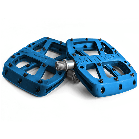 Pedal E.13 Base Composite Azul, Negro y Rojo