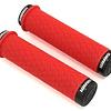 Puños Sram Lock On Silicona Rojo Con Topes