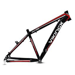Marco Aluminio Viking bicicleta aro 27,5x17 color negro, rojo