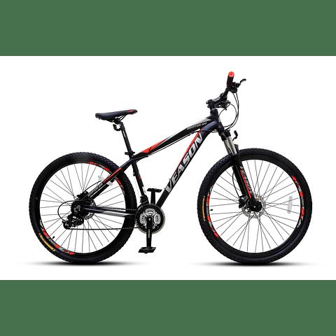 Bicicleta 29 Mtb Veason Hidraulica 24v color gris / rojo