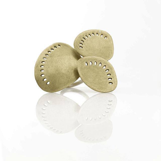 Anillo Nicco3 plata y bronce