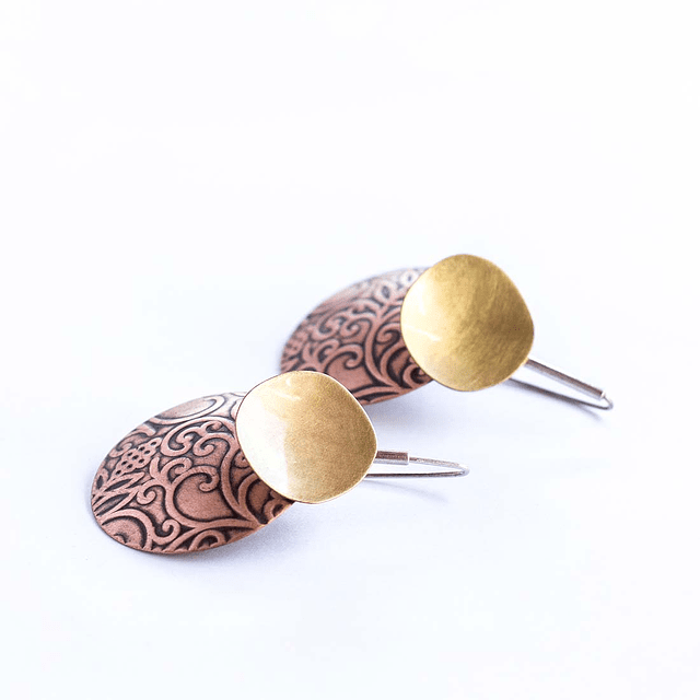 Aro Kaaro textura plata bronce cobre largo