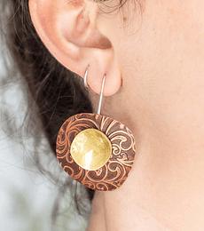 Aro textura con bronce