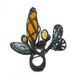 Anillo Naranja Negro