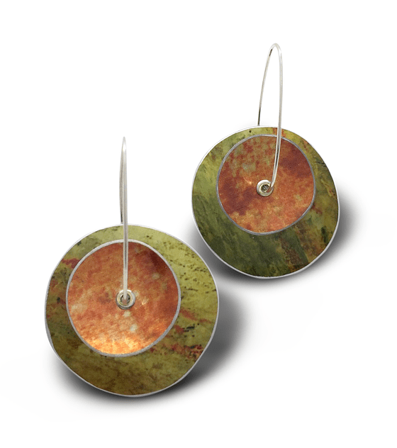 Aros rueda naranja verde mediano