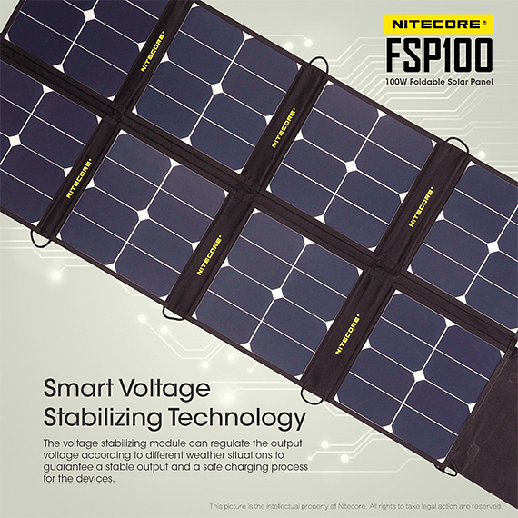Cargador Solar Nitecore Plegable 100W- Image 9