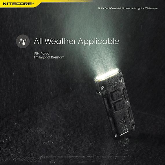 Linterna Compacta LED Nitecore 700 lúmenes Recargable USB TIP SE- Image 7