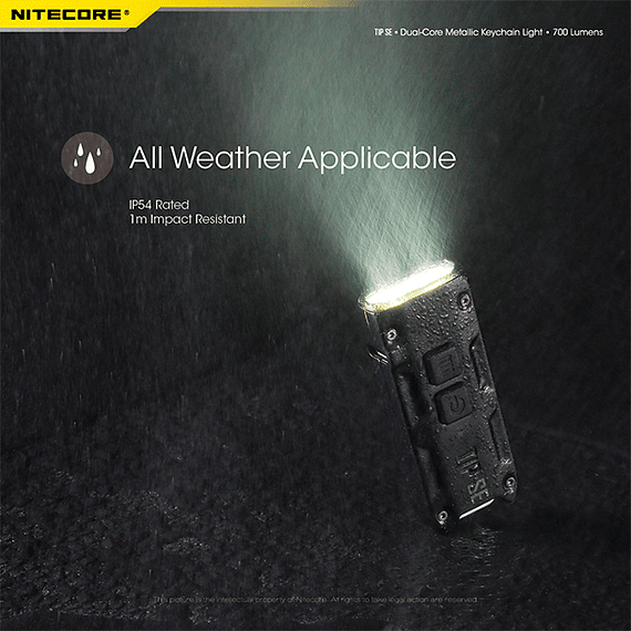 Linterna Compacta LED Nitecore 700 lúmenes Recargable USB TIP SE Negro- Image 7