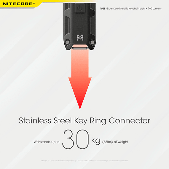 Linterna Compacta LED Nitecore 700 lúmenes Recargable USB TIP SE Negro- Image 8