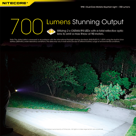 Linterna Compacta LED Nitecore 700 lúmenes Recargable USB TIP SE Negro- Image 23