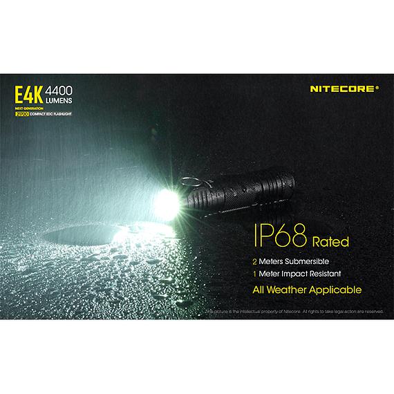 Linterna LED Nitecore 4400 lúmenes Recargable USB E4K- Image 8