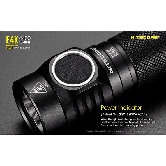 Linterna LED Nitecore 4400 lúmenes Recargable USB E4K- Image 11