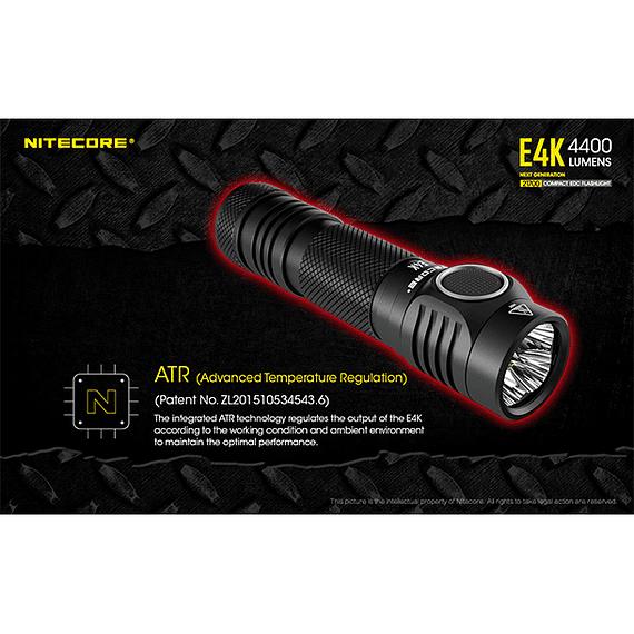Linterna LED Nitecore 4400 lúmenes Recargable USB E4K- Image 12
