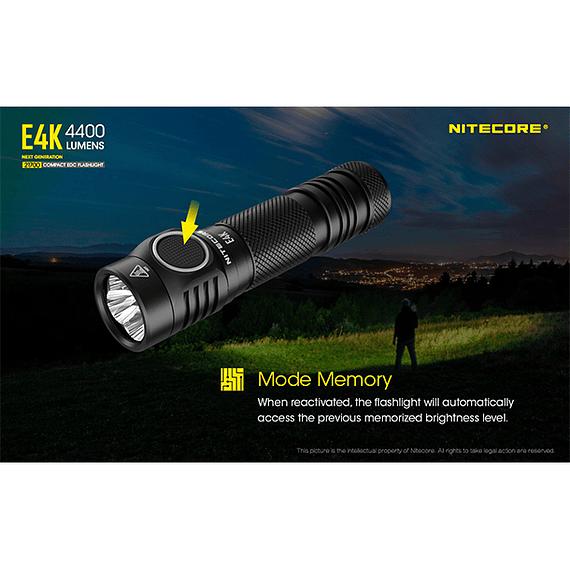 Linterna LED Nitecore 4400 lúmenes Recargable USB E4K- Image 13