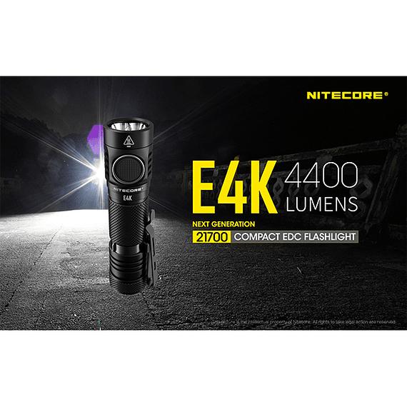 Linterna LED Nitecore 4400 lúmenes Recargable USB E4K- Image 25