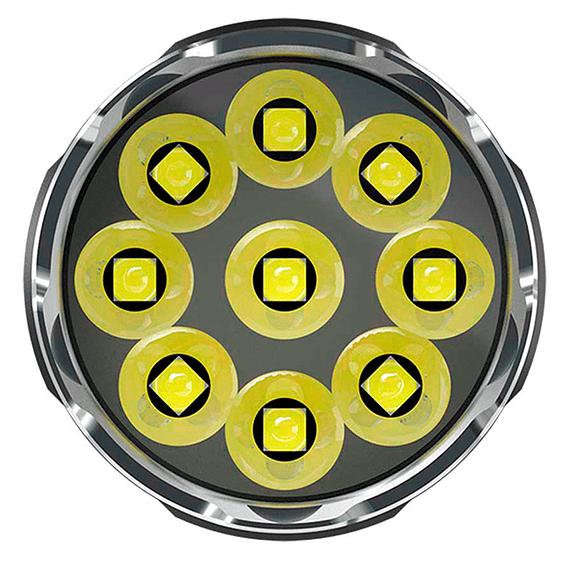 Linterna LED Nitecore 9500 lúmenes Recargable USB TM9K- Image 5