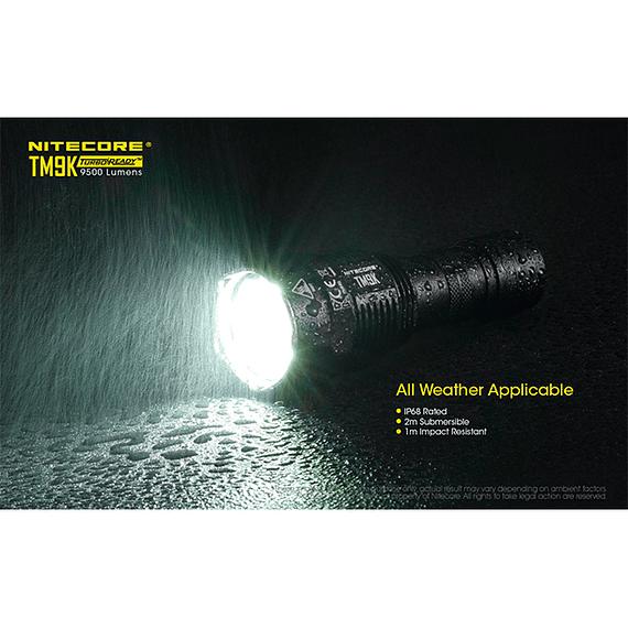 Linterna LED Nitecore 9500 lúmenes Recargable USB TM9K- Image 9