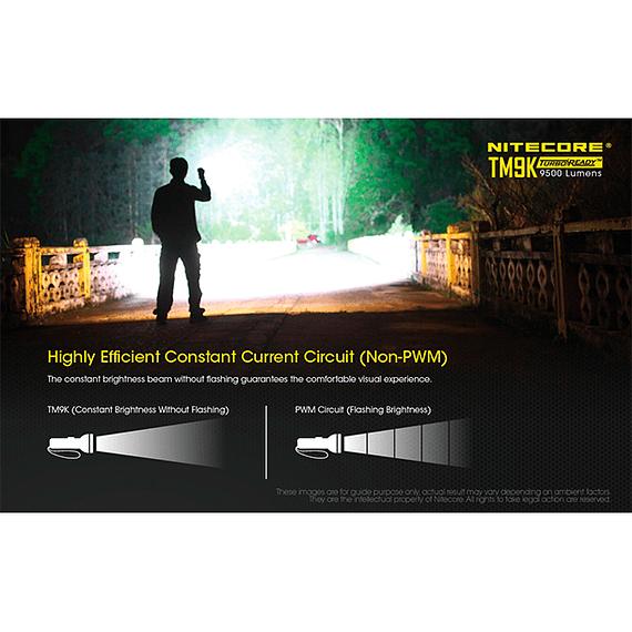 Linterna LED Nitecore 9500 lúmenes Recargable USB TM9K- Image 10