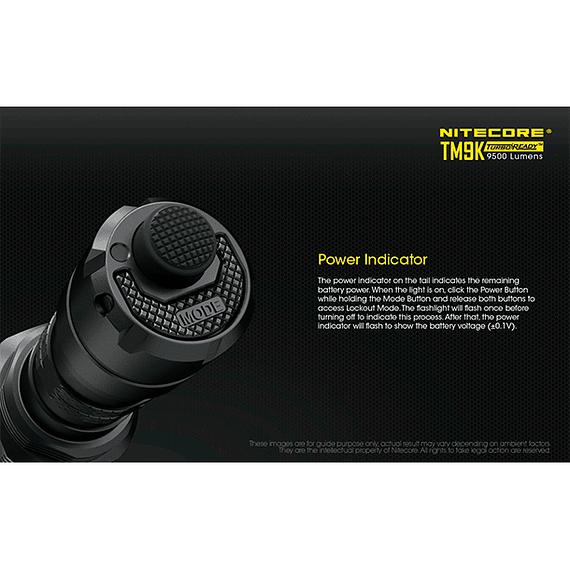 Linterna LED Nitecore 9500 lúmenes Recargable USB TM9K- Image 12