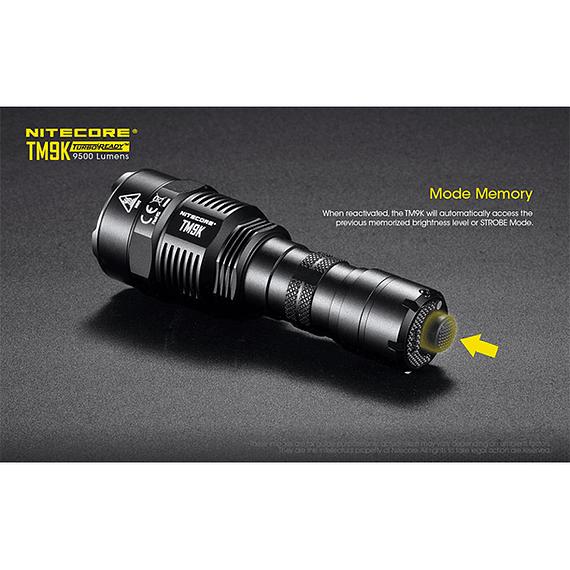 Linterna LED Nitecore 9500 lúmenes Recargable USB TM9K- Image 13
