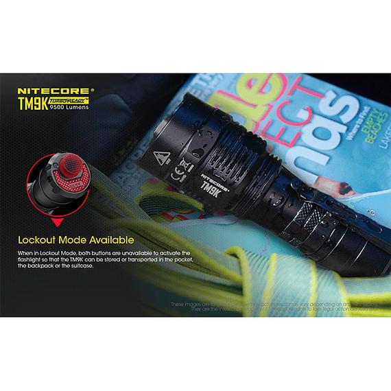 Linterna LED Nitecore 9500 lúmenes Recargable USB TM9K- Image 14