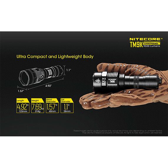 Linterna LED Nitecore 9500 lúmenes Recargable USB TM9K- Image 19