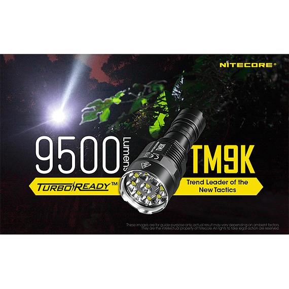 Linterna LED Nitecore 9500 lúmenes Recargable USB TM9K- Image 25