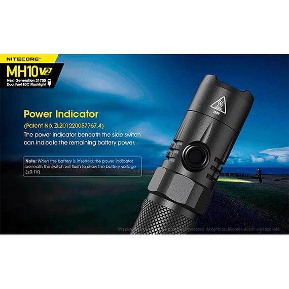 Linterna LED Nitecore 1200 lúmenes Recargable USB MH10 V2- Image 12