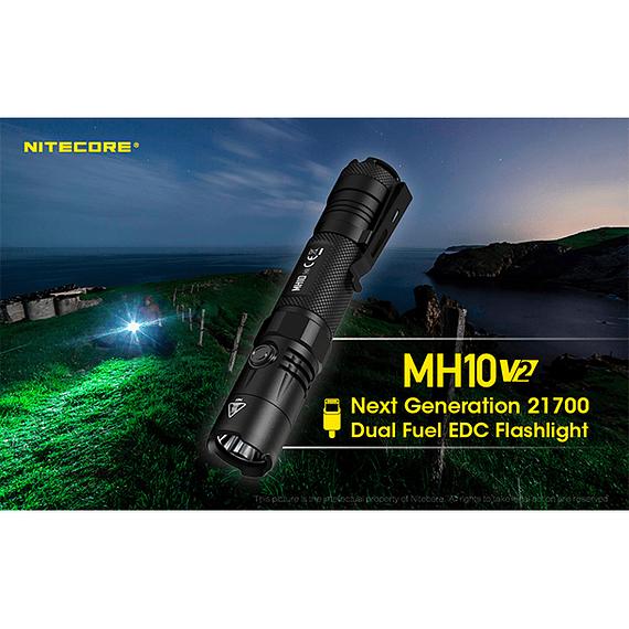 Linterna LED Nitecore 1200 lúmenes Recargable USB MH10 V2- Image 28
