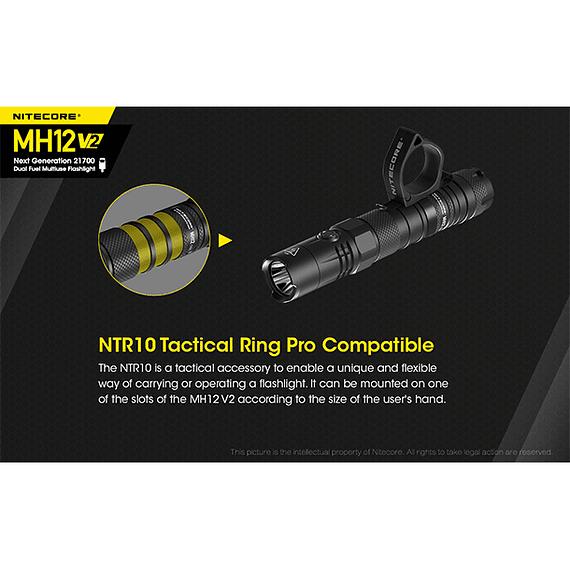 Linterna LED Nitecore 1200 lúmenes Recargable USB MH12 V2- Image 16
