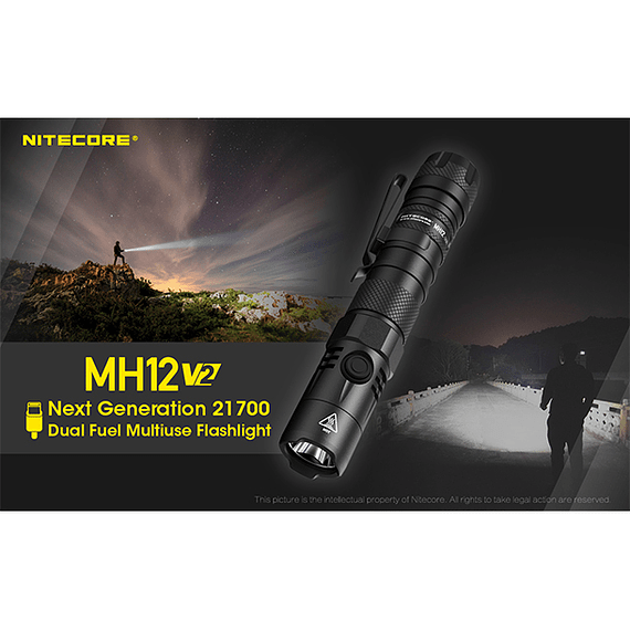 Linterna LED Nitecore 1200 lúmenes Recargable USB MH12 V2- Image 28