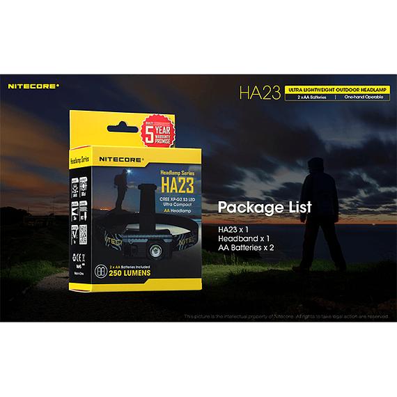 Linterna Frontal LED Nitecore 250 lúmenes USB HA23- Image 6