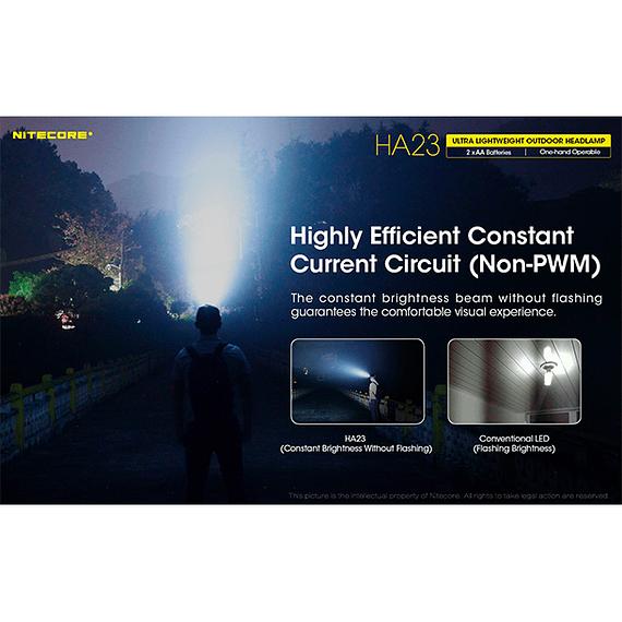 Linterna Frontal LED Nitecore 250 lúmenes USB HA23- Image 8