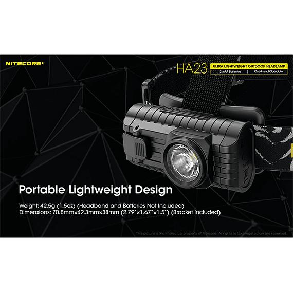 Linterna Frontal LED Nitecore 250 lúmenes USB HA23- Image 11
