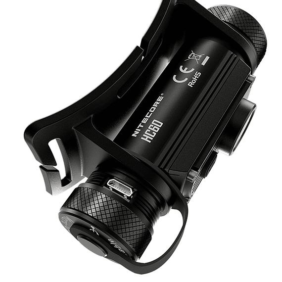 Linterna Frontal LED Nitecore 1000 lúmenes Recargable USB HC60- Image 3