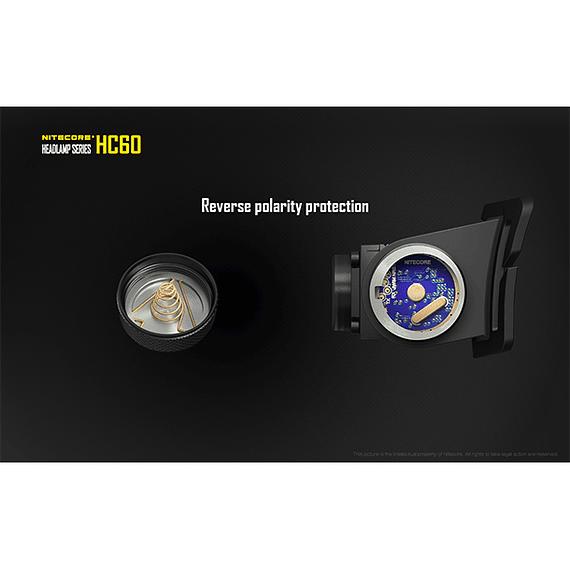 Linterna Frontal LED Nitecore 1000 lúmenes Recargable USB HC60- Image 10
