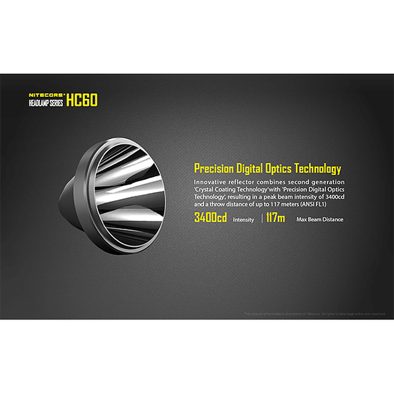 Linterna Frontal LED Nitecore 1000 lúmenes Recargable USB HC60- Image 11