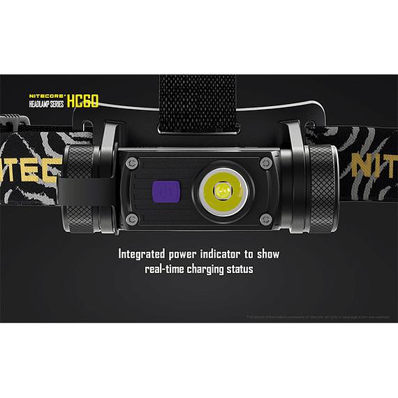 Linterna Frontal LED Nitecore 1000 lúmenes Recargable USB HC60- Image 12