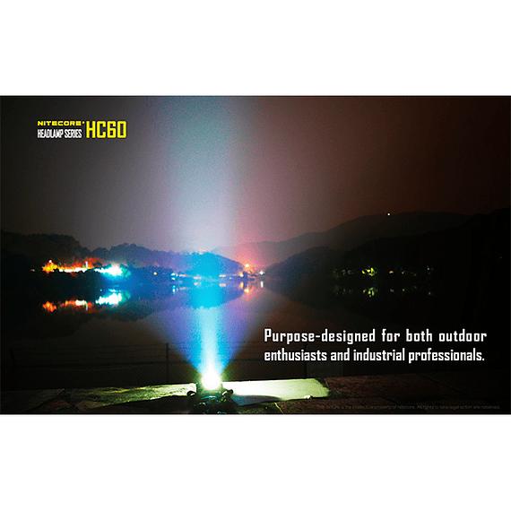 Linterna Frontal LED Nitecore 1000 lúmenes Recargable USB HC60- Image 16